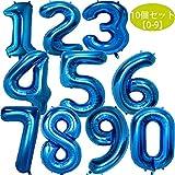 stshell 誕生日 飾り 風船 セット 数字バルーン バースデー パーティー 誕生日 飾り付け ブルー