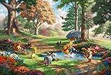 西洋絵画 ディズニー クマのプーさん 2 トーマス キンケード 約90x60cm Winnie the Pooh [並行輸入品]
