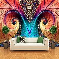 Weaeo パーソナライズされたカスタマイズアート抽象的なカラー彫刻写真の壁紙モダンリビングルームダイニングルームギャラリー壁画3D-400X280Cm