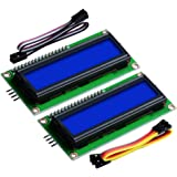 GeeekPi 2-Pack I2C 1602 LCD Display Module 16X2 Character Serial Blue Backlight LCD Module for Raspberry Pi Arduino STM32 DIY