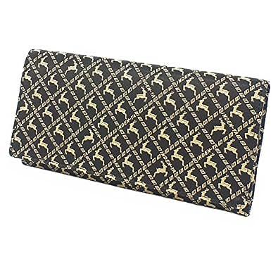 INDEN-YA 印傳屋 印伝 財布 長財布 メンズ 男性用 黒×白 ディアー 2109-11-165