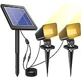 【2020最新バージョン】ソーラーライト 屋外 LED アウトドア ガーデンライト 最大20時間点灯 太陽光パネル充電…