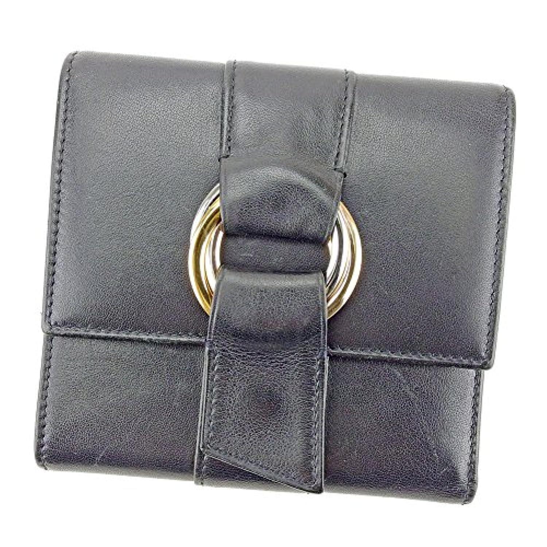 [カルティエ] Cartier 三つ折り 財布 レディース メンズ 可 トリニティ 中古 T4355