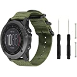 Digit.Tail Sport Military Nylon Bands Universal 26mm Watch Strap Band Accessory with Lugs and Screw Tools for Garmin Fenix 3
