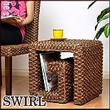 【アジアン家具】ウォーターヒヤシンス サイドテーブル/スツール (腰掛け椅子) SWIRL(スワール)
