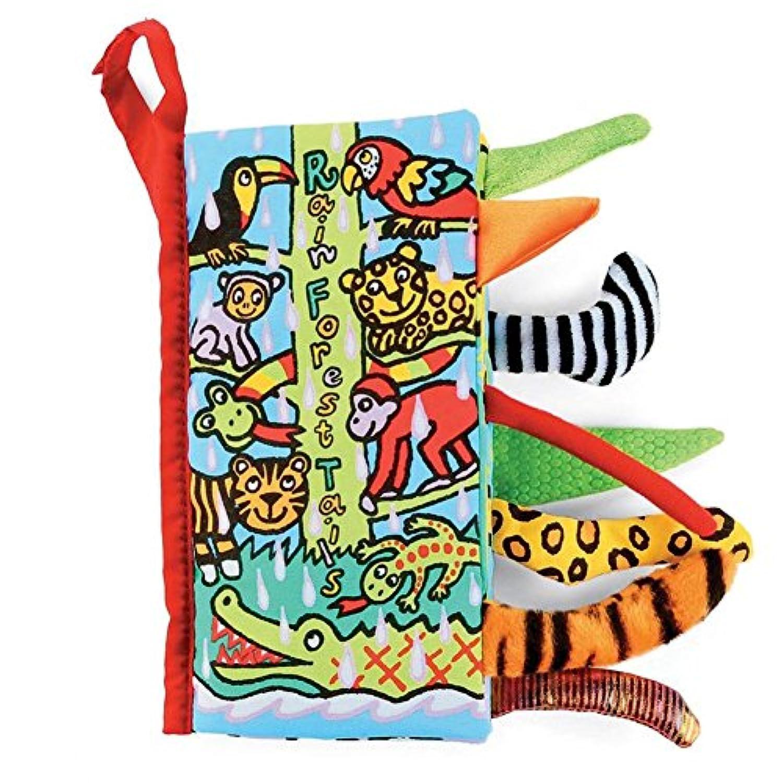 NOQ A Book of Animal Tail /赤ちゃん早期教育ブック/子供の学習おもちゃ/ The Parrot、クロコダイル、ヒョウ、トラ、サル、など