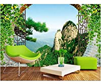 Weaeo カスタム壁画の3D写真の壁紙中国の中空アーチ黄山の風景の装飾壁3Dの壁の壁画の壁紙3D-450X300Cm