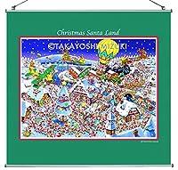 ☆クリスマス・タペストリー《Xmas Santa Land》60×56.5cm・(ジクレー版画)
