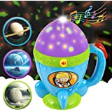 kidpal Toddler Learning Toys for 1 2 3 Years Old Boys and Girls, Nursery Night Light Projector for Baby Kids