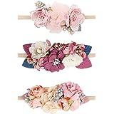 Floral Headbands For Baby Girls Nylon Elastic Flower Hair Band For Newborn Infant Toddler Hairbands