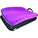 Gel Seat Cushion Comfort Purple Honeycomb Egg Crate Design Gel Pad Provides Excellent Support For Lower Back, Spine, Hips Pro