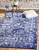 Unique Loom La Jolla Collection Blue 3 x 5 Area Rug (3' 3 x 5' 3) [並行輸入品]