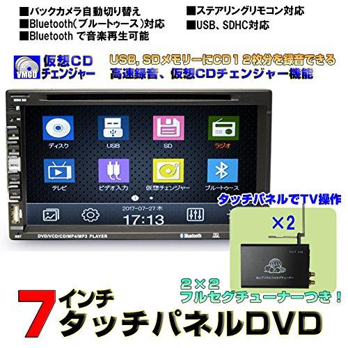 7インチDVDプレーヤー/CD12連装仮想チェンジャー/ラジ...