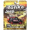 Tonka Jeep Brand Metal Diecast Bodies Jeep Wrangler Black 【You Me】 並行輸入品