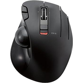 エレコム ワイヤレスマウス トラックボール 6ボタン ブラック M-XT3DRBK