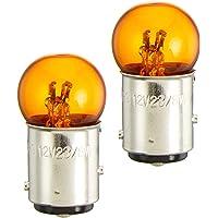 デイトナ バイク用 ウインカーバルブ 12V 23/8W ダブル球 オレンジ 2個セット 21825