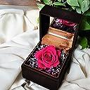 プロポーズに人気 プリザーブドフラワー 枯れない 花 指輪BOXタイプ バラ ギフト 【フランボワーズ】 (BOX ブラウン)