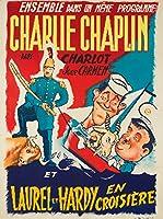 Charlie Chaplin–Laurel et Hardyヴィンテージポスターフランス 24 x 36 Giclee Print LANT-62064-24x36