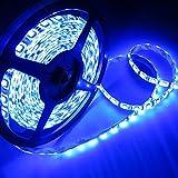 ALITOVE LEDテープ 防水 24V 5m 300連 SMD5050 ブルー 青 白ベース 正面発光 LEDイルミネーション 切断可能