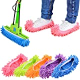 10 PCS 5 Pairs Dust Duster Mop Slippers Shoes Cover Multi Function Washable Microfiber Foot Socks Floor Cleaning Shoes Cover