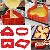 4x Silicone Cake Mould Magic Nonstick Bake Snakes Create Any Shape of Cakes for Your loved