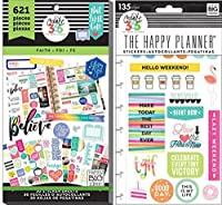 Create 365 Happy Planner Value Pack and TGIF Snap-In Pack (Set of 2 items) (Faith 621 Stickers) [並行輸入品]