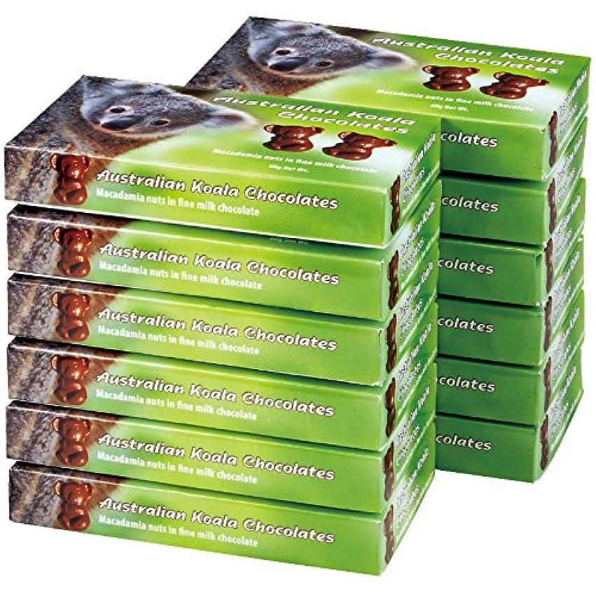 海嶺のホスト小説家オーストラリア 土産 コアラ マカデミアナッツチョコレートミニ 12箱セット (海外旅行 オーストラリア お土産)