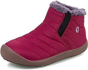 FireyStore スノーシューズ ブーツ 防寒靴 レディース メンズ 防寒 防滑のスノーブーツ 長靴 短靴