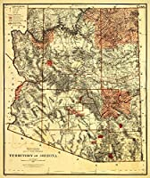 Arizona Territory–パノラマMap 24 x 36 Giclee Print LANT-19755-24x36