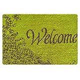 Bigcardesigns 玄関マット 室内 welcome マウスパッド 多目的 おしゃれで個性的 フェルト材料 ゴム 40cm*60cm