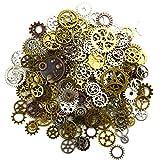 Makhry 150グラム多色装飾ビンテージ金属Steampunkジュエリー魅力を作るコグの時計ホイール工作、コスプレハロウィンデコレーション (..