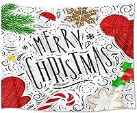 JOOCAR クリスマスデコレーションタペストリー壁掛けクリスマスツリー家の装飾アートタペストリー