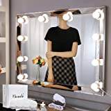 Chende Vanity Lights for Mirror, Hollywood Style Makeup Light Stick on, Large 10 Daylight Dimmable LED Bulbs with AC Adapter,