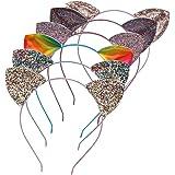 Lee Design Cat Ears Ears Headband Rainbow Headbands Cat Ear Headband Glitter Cat Ears Cat Headbands Cat Theme Brithday Party