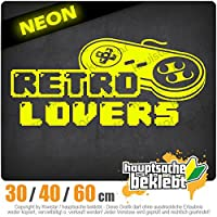 KIWISTAR - Retro Lover Controler zocken Games Games 15色 - ネオン+クロム! ステッカービニールオートバイ