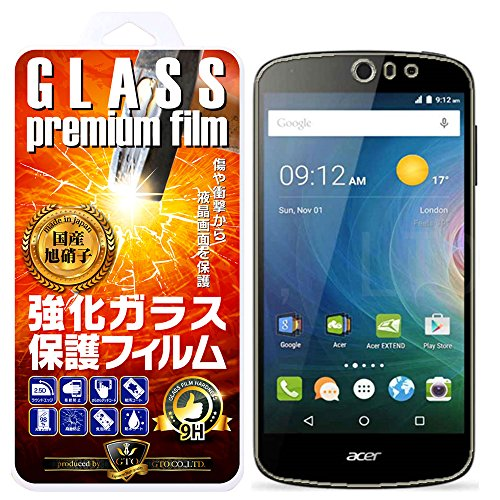 【GTO】acer Liquid Z530 ガラスフィルム 強化ガラス 国産旭ガラス採用 強化ガラス液晶保護フィルム ガラスフィルム 耐指紋 撥油性 表面硬度 9H 厚さ0.3mm 2.5D ラウンドエッジ加工 液晶ガラスフィルム