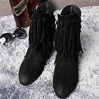 2015 アマゾン ヨーロッパ 女性 ビッグヤード ブーツ 靴 レザーブーツR112 [ブラック/24.5]