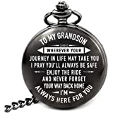 LEVONTA Men Gifts for Birthday Anniversary Valentines Day Graduation Fathers Day Christmas, Personalized Pocket Watch for Him