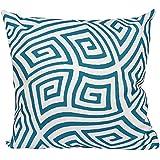 E byデザインpg-n9-lake _ blue-16 pg-n9-lake _ blue-16幾何装飾枕、湖ブルー、湖ブルー