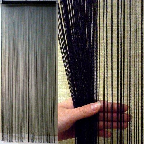 ストリングカーテン (ブラック) 全4色 縦 200cm × 100cm
