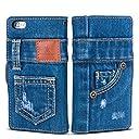 「UK Trident」本格デニム iPhone6 / iPhone6s 兼用 手帳型アイフォンケース