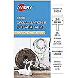 Avery Cord Tags, Handwritable, 40 x 60 mm, 24 Labels (39032)