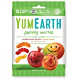 YumEarth Gluten Free Gummy Worms, Assorted Flavors, 2.5 Ounce Bag , 12 pack