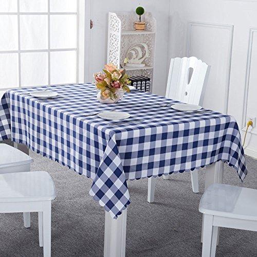 gardenlightess テーブルクロス チェック アウトド キャンプ用 140x180cm 北欧風 ブルー