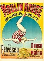 Moulin Rouge–Melle Petrescuヴィンテージポスター(アーティスト: )フランスC。1889 12 x 18 Art Print LANT-65742-12x18