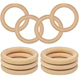 DS. DISTINCTIVE STYLE Wooden Rings for Crafts 10 Pieces 2.76 Inches Wooden Macrame Rings Unfinished Wood Rings for Macrame Pl