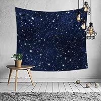 タペストリー 壁掛け布 ロマンチックまぶしい ほし 多機能ホーム装飾 壁掛け カーテン 撮影背景シート ダークブルーの星空 150㎝x200cm