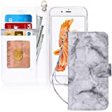 FYY Case for iPhone 8 Plus/iPhone 7 Plus,[Kickstand Feature] Luxury PU Leather Wallet Case Flip Folio Cover with [Card Slots]