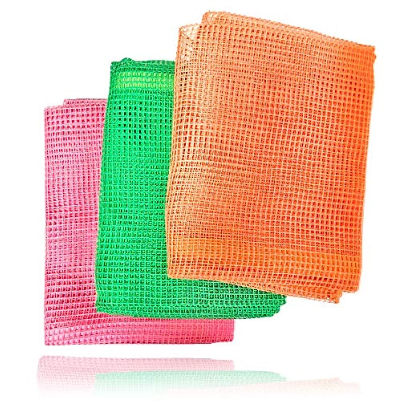 虫を数える放射する破壊する美肌健康浴用タオル3本セット(旧ビオネット)