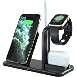 ADDANY Wireless Charger 3 in 1 Wireless Charging Station Fast Charger Docking Station for Samsung Galaxy S20/S10; iPhone 12/1